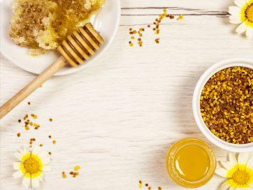 عسل طبیعی و گرده عسل